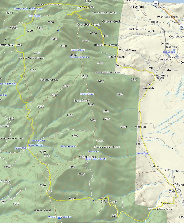 20120502 Clifton Mine Creek Cherry Creek map